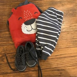 12 mo hoodie set & Children's Place 4 Shoes